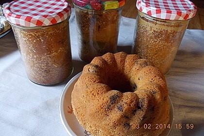 Butter - Vanille - Haselnuss - Kuchen im Glas mit Schokotröpfchen 23