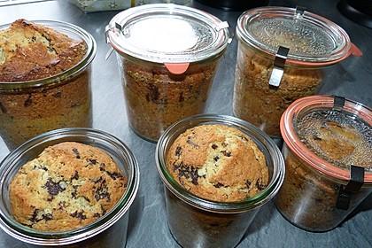 Butter - Vanille - Haselnuss - Kuchen im Glas mit Schokotröpfchen 12