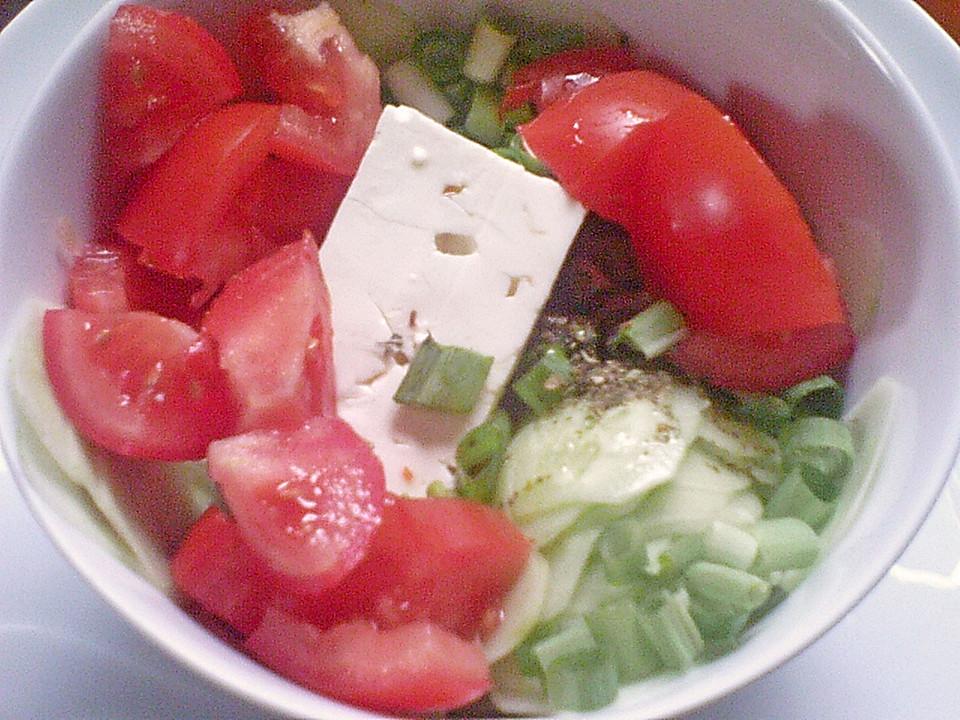 Salat Mit Schafskase Oder Ziegenkase Von Marykocht Chefkoch De