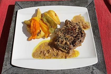 Rindersteaks mit Senf-Estragon Sauce 13