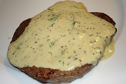 Rindersteaks mit Senf-Estragon Sauce 2