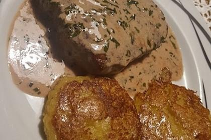 Rindersteaks mit Senf-Estragon Sauce