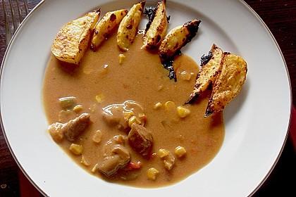 Kartoffelspalten mit Honig - Senf - Marinade 8