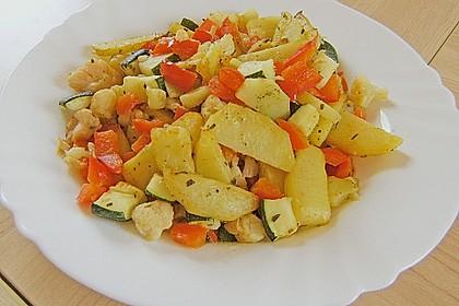 Kartoffelspalten mit Honig - Senf - Marinade 7