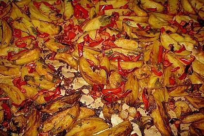 Kartoffelspalten mit Honig - Senf - Marinade 6