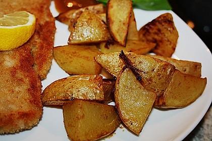 Kartoffelspalten mit Honig - Senf - Marinade 1