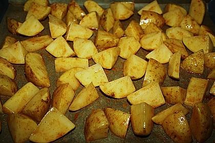 Kartoffelspalten mit Honig - Senf - Marinade 11
