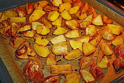 Kartoffelspalten mit Honig - Senf - Marinade 2