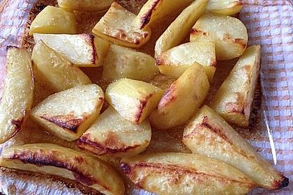 Kartoffelspalten mit Honig - Senf - Marinade 3