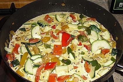 Mediterrane Gemüsepfanne mit Pasta 2