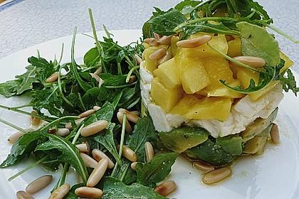 Avocado-Mozzarella-Salat mit Mango 9