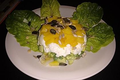 Avocado-Mozzarella-Salat mit Mango 70
