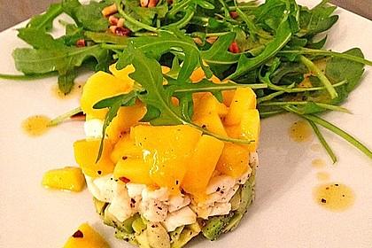 Avocado-Mozzarella-Salat mit Mango 11
