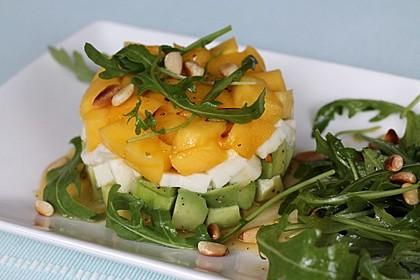 Avocado-Mozzarella-Salat mit Mango 7
