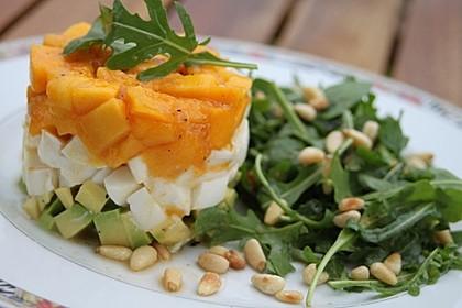 Avocado-Mozzarella-Salat mit Mango 1