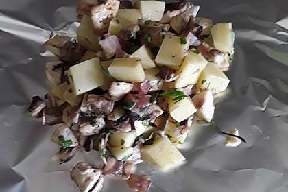 Grillkartoffeln mit Pilzen