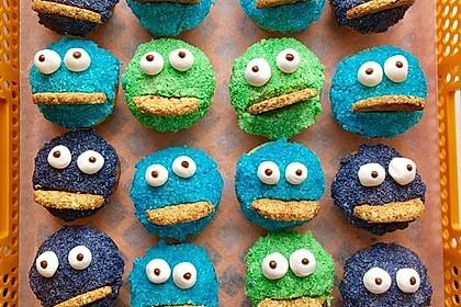 Krümelmonster-Muffins 15