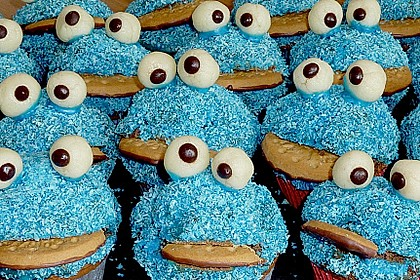 Krümelmonster-Muffins 31