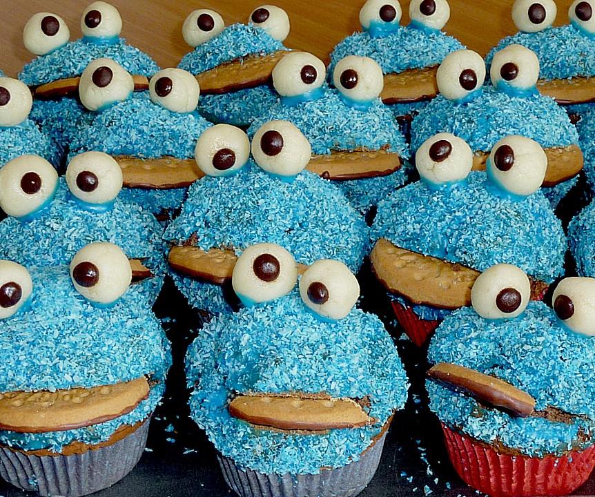 Kruemelmonster Muffin Rezept Kindergeburtstag Idee