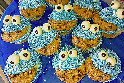 Krümelmonster-Muffins 13
