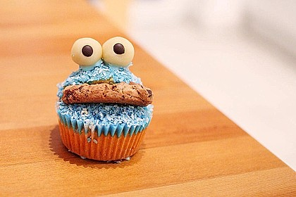 Krümelmonster-Muffins 4