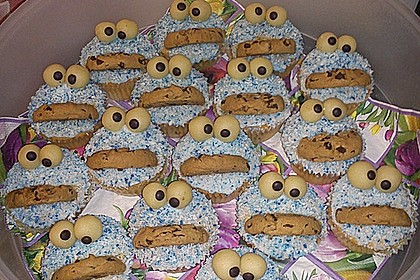 Krümelmonster-Muffins 34