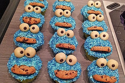 Krümelmonster-Muffins 12