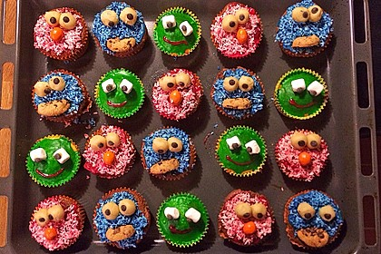 Krümelmonster-Muffins 62