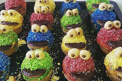 Krümelmonster-Muffins