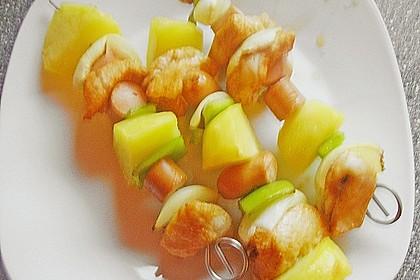 Puten - Kartoffel - Spieße mit Mango - Joghurt - Sauce 1