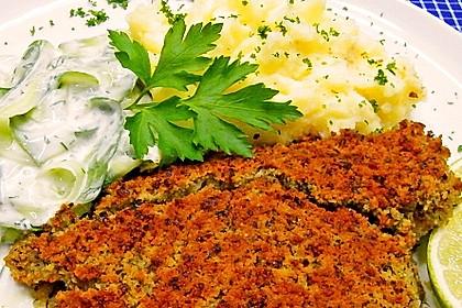 Schlemmerfilet à la Bordelaise mit Gurkensalat und Stampfkartoffeln 1