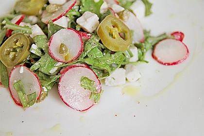 Rucola - Radieschensalat mit Feta 11
