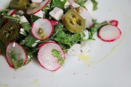 Rucola - Radieschensalat mit Feta 8
