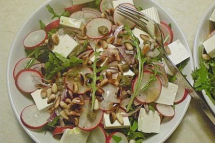Rucola - Radieschensalat mit Feta 5