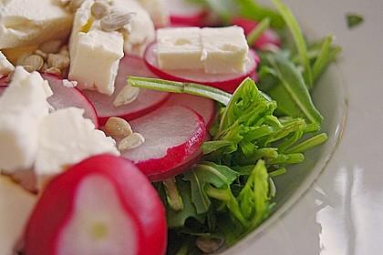 Rucola - Radieschensalat mit Feta 4