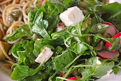 Rucola - Radieschensalat mit Feta 12