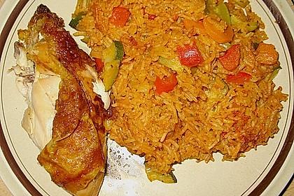 Würziger Gemüse - Reis - Topf