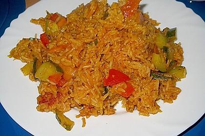 Würziger Gemüse - Reis - Topf 1