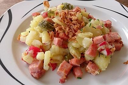 Biergarten - Salat mit Fleischkäse 8