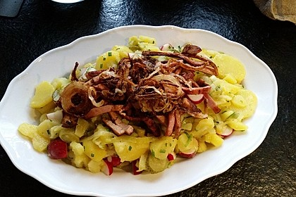 Biergarten - Salat mit Fleischkäse 4