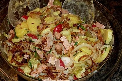Biergarten - Salat mit Fleischkäse 6