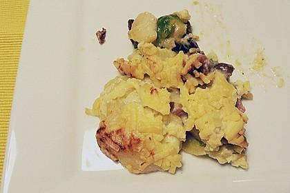 500 g - Kartoffel - Rosenkohl - Kasseler - Gratin 4