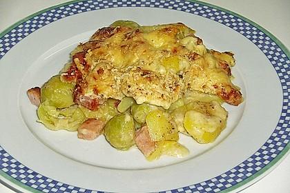 500 g - Kartoffel - Rosenkohl - Kasseler - Gratin 2