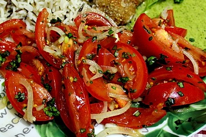 Tomatensalat auf italienische Art