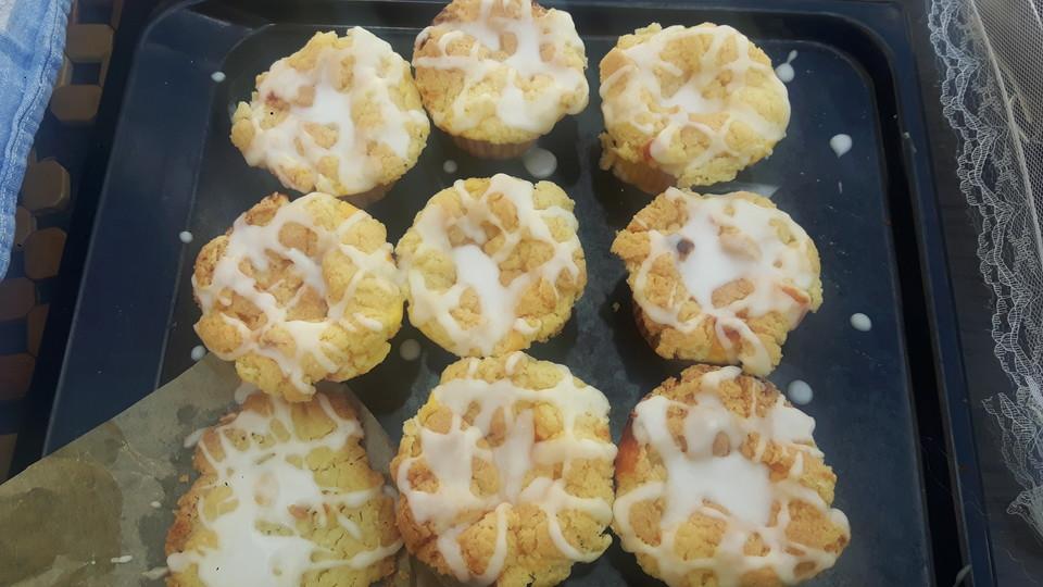 Käsekuchen - Muffins mit Butterstreuseln (Rezept mit Bild ...