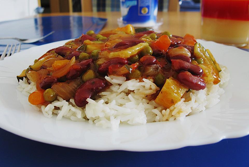 Bunte zigeunersauce zu basmati reis rezept mit bild - Reis im reiskocher ...