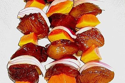 Papaya - Hähnchen - Spieße für den Grill 1