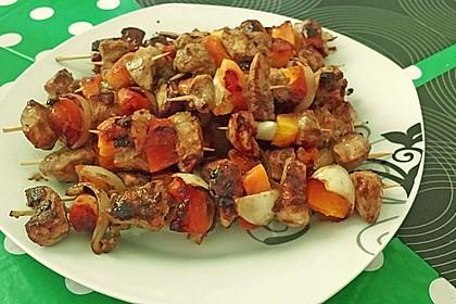 Papaya - Hähnchen - Spieße für den Grill 4