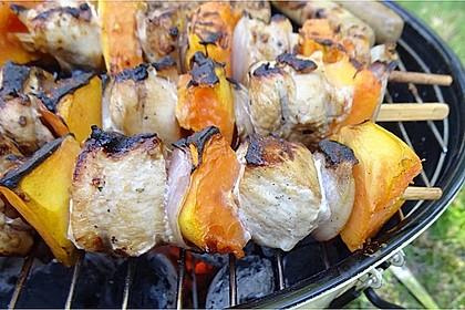 Papaya - Hähnchen - Spieße für den Grill 2