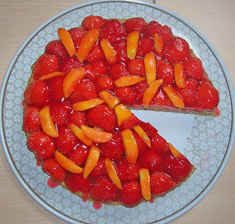 Kuchen mit gerosteten haferflocken